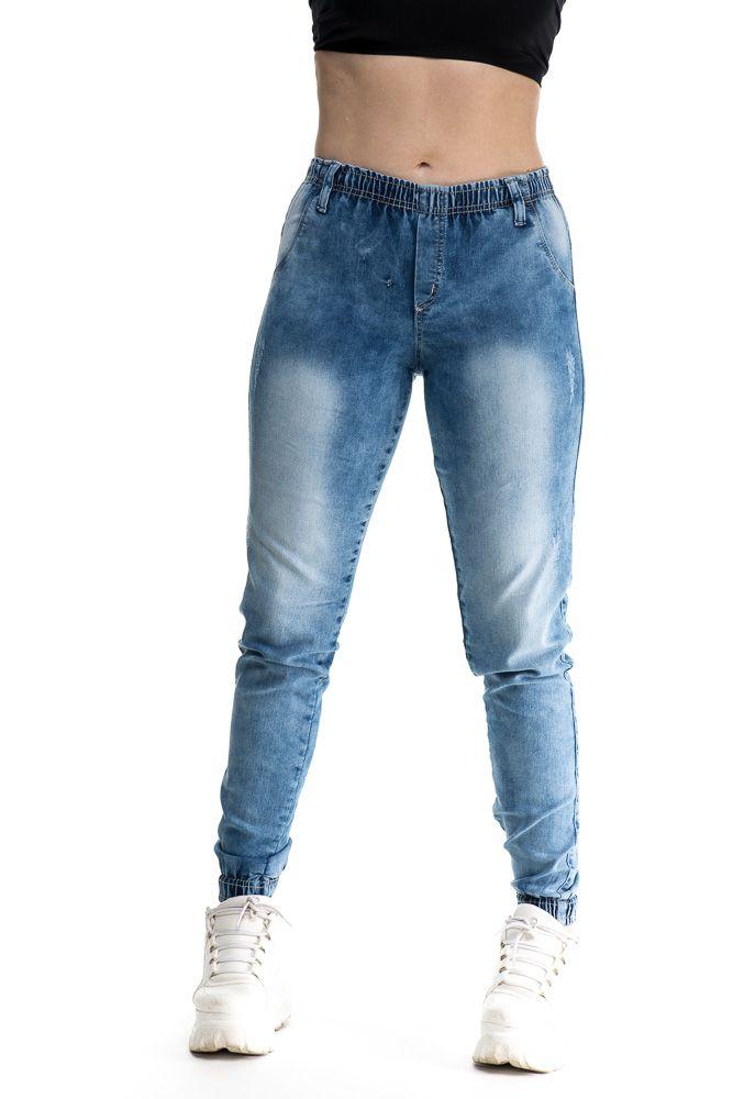 Calça Jogger jeans Com Punho