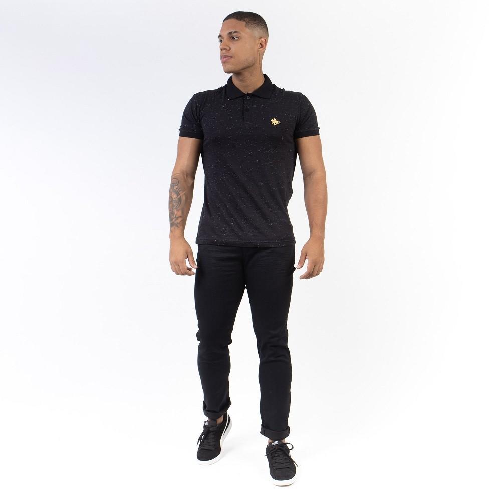 Calça Masculina Jeans Preta Aizone