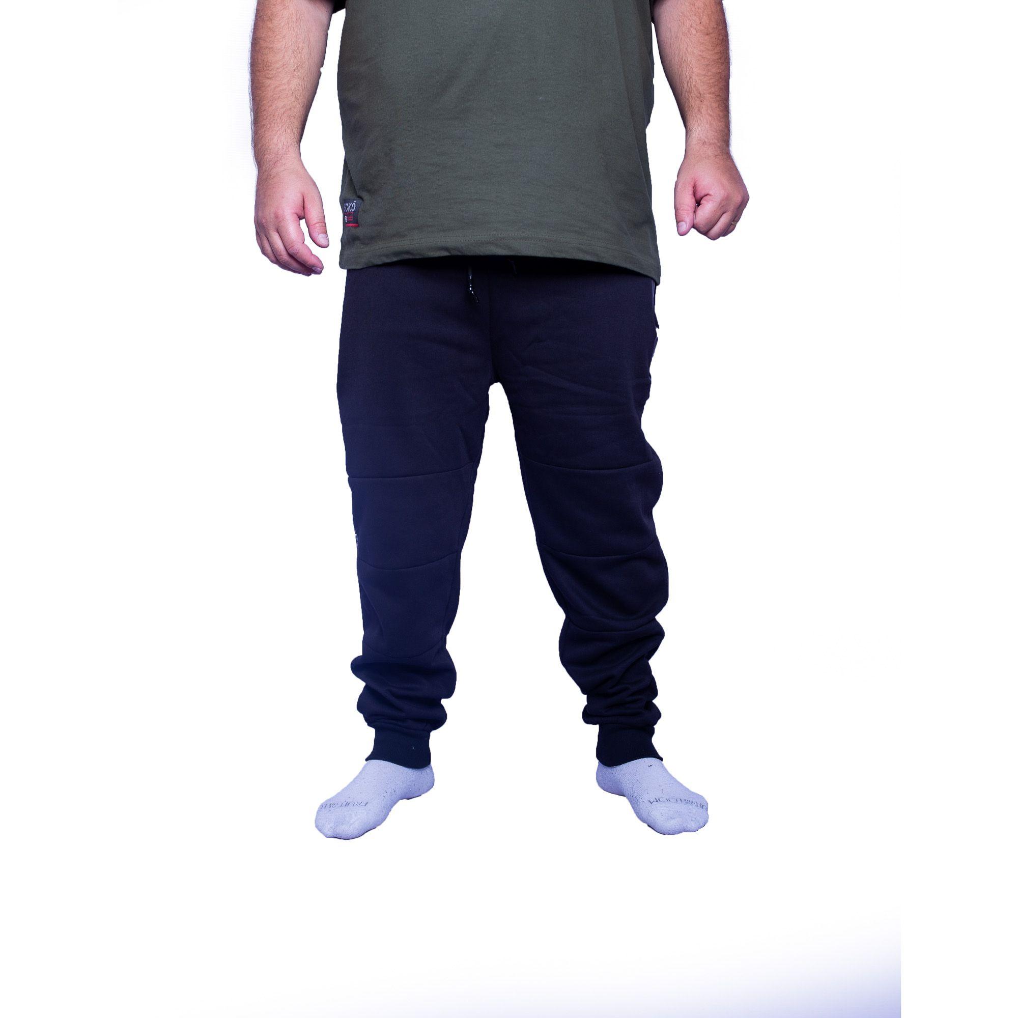 Calça Moletom Masculina Plus Size Com Bolso - Gangster