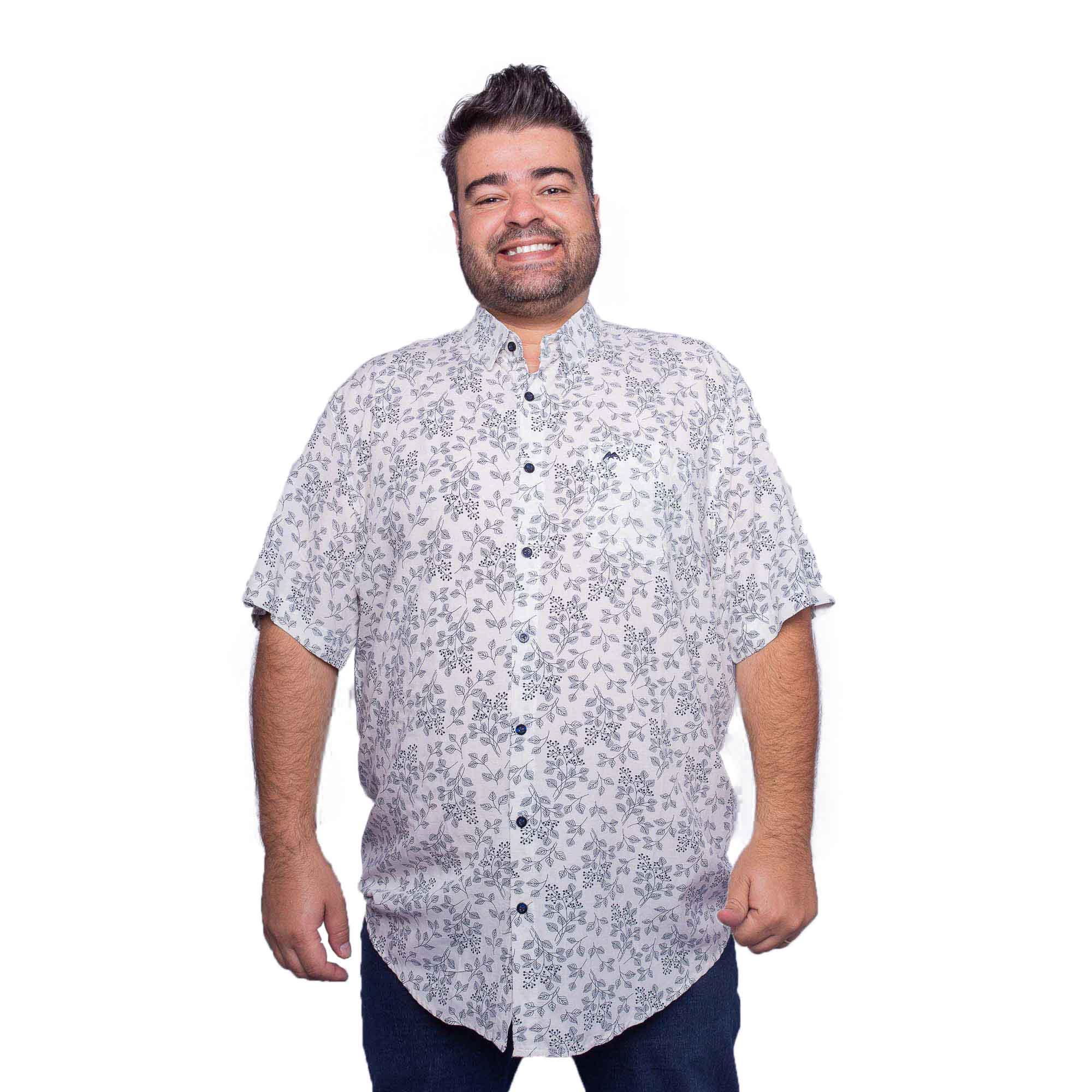 Camisa Masculina Plus Size Viscose - MX-72