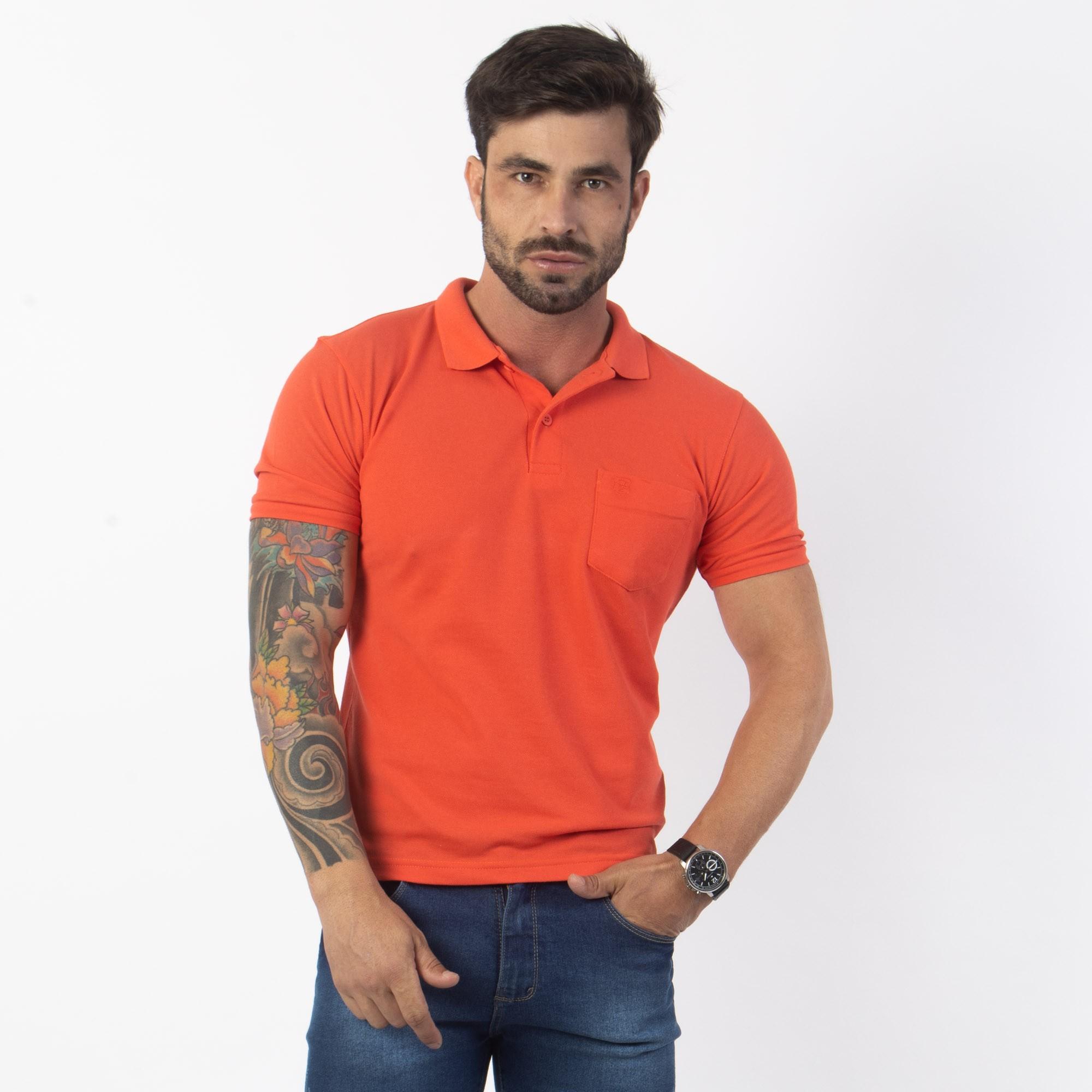 Camisa Polo Básica Manga Curta