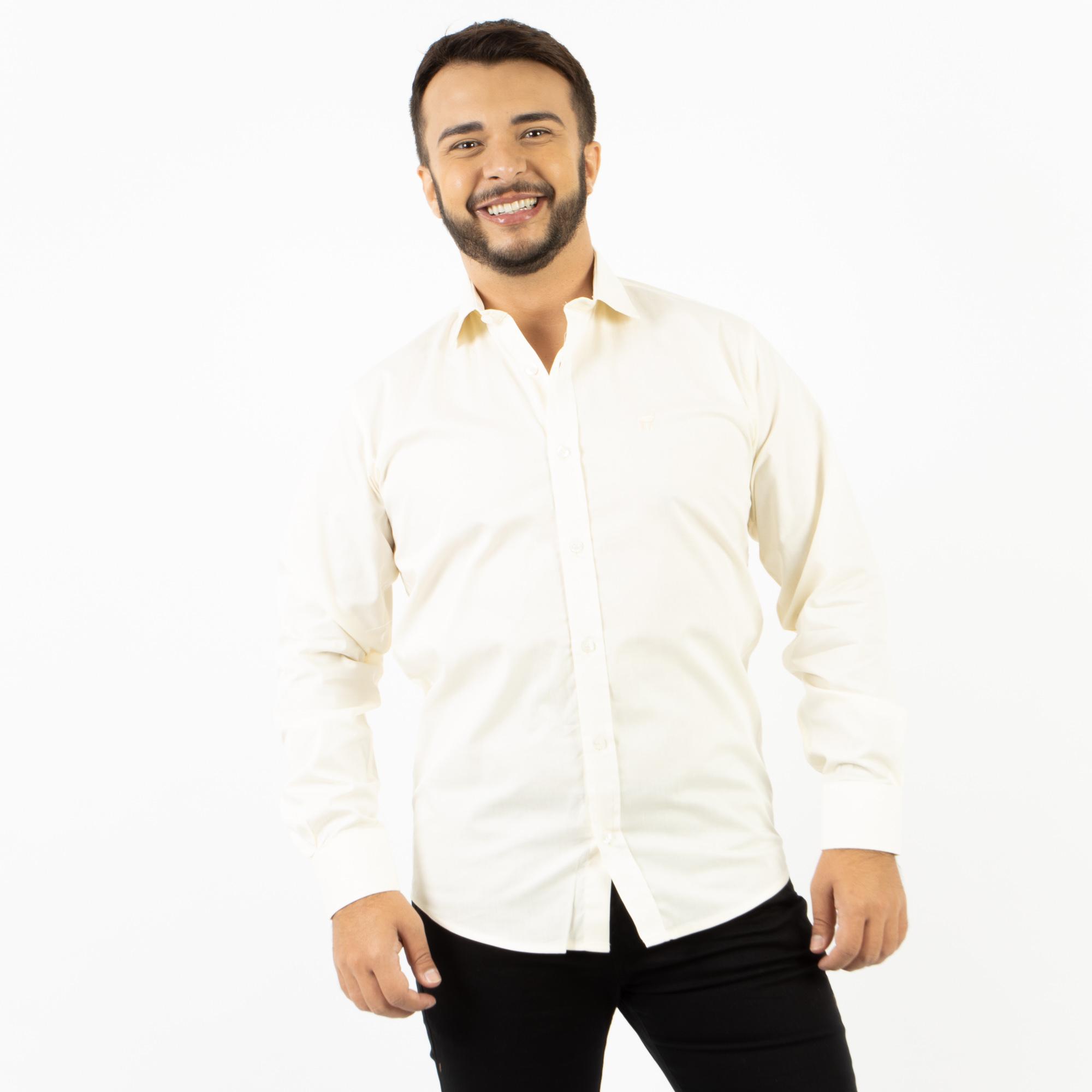 Camisa Social Regular Lisa Manga Longa