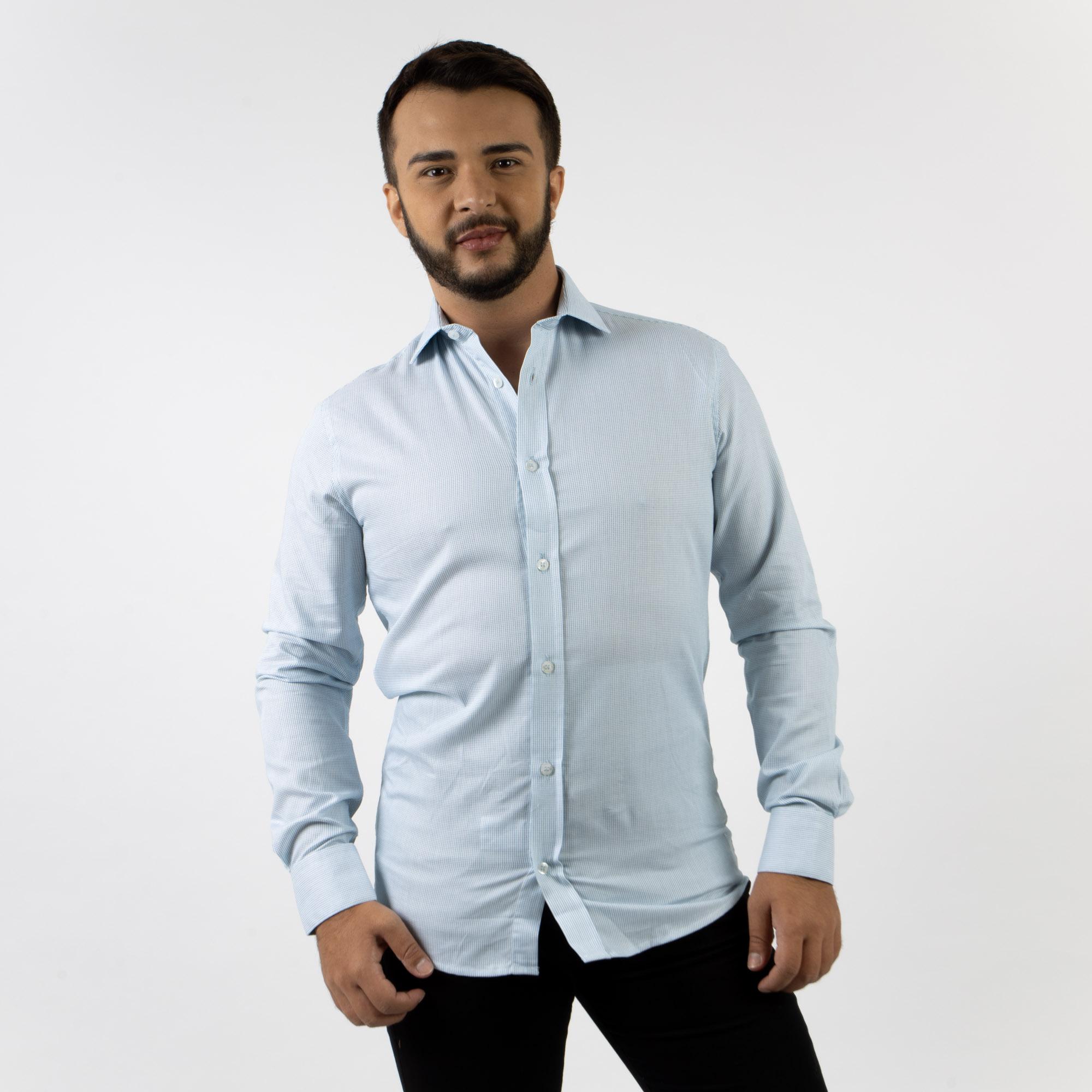 Camisa Social Slim Fit Manga Longa