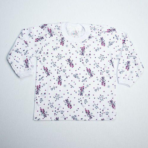 Camiseta Bebê Manga Longa Estampada 1/3 Só Malhas