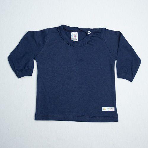 Camiseta Bebê Manga Longa Lisa Só Malhas