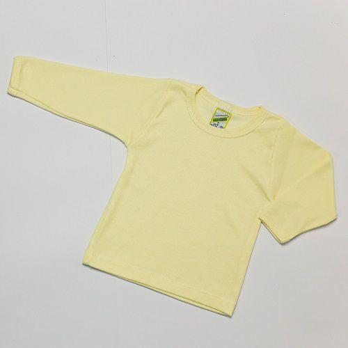 Camiseta Bebê Manga Longa Liso Baratinha
