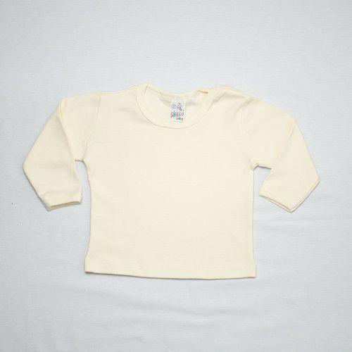 Camiseta Bebê Manga Longa Liso / PMG