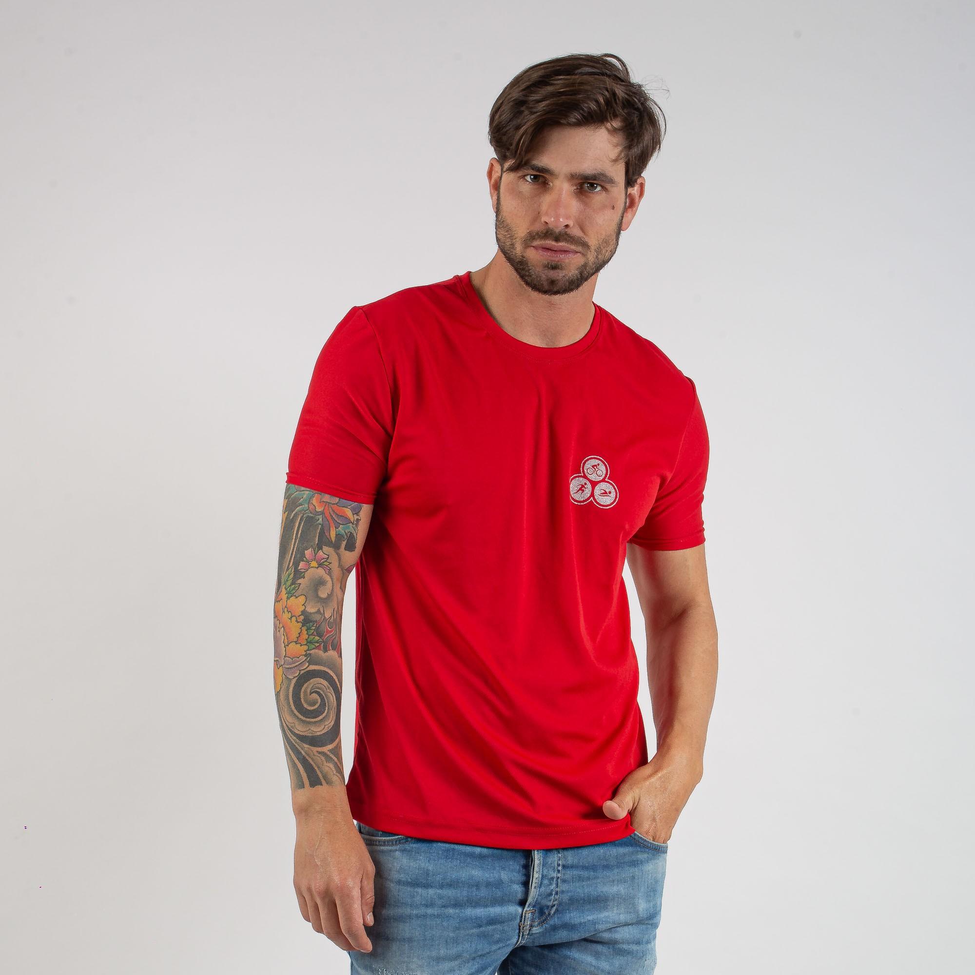 Camiseta Esportiva Básica Estampada