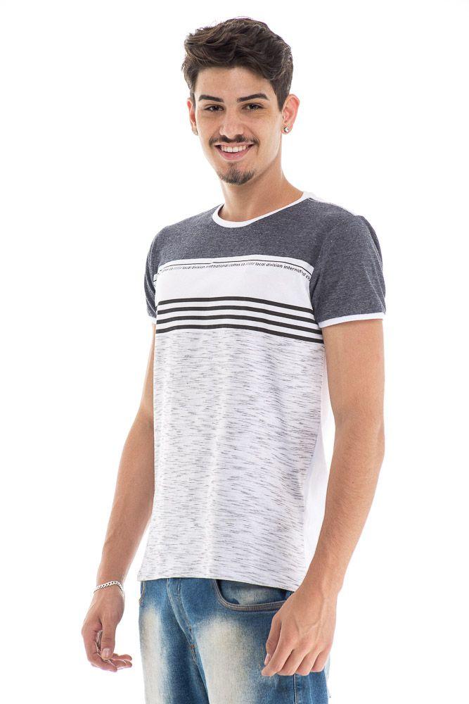 Camiseta estonada ombro mescla