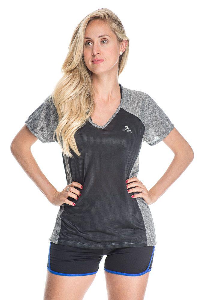 Camiseta Fitness Com Detalhe Na Frente Preto