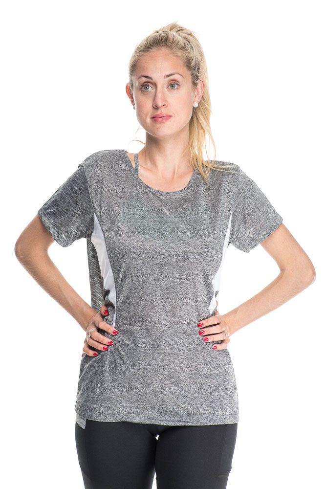 Camiseta Fitness Com Detalhe Nas Costas Branco