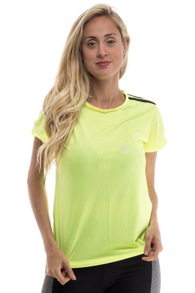 Camiseta Fitness Dry Fit Verde Neon