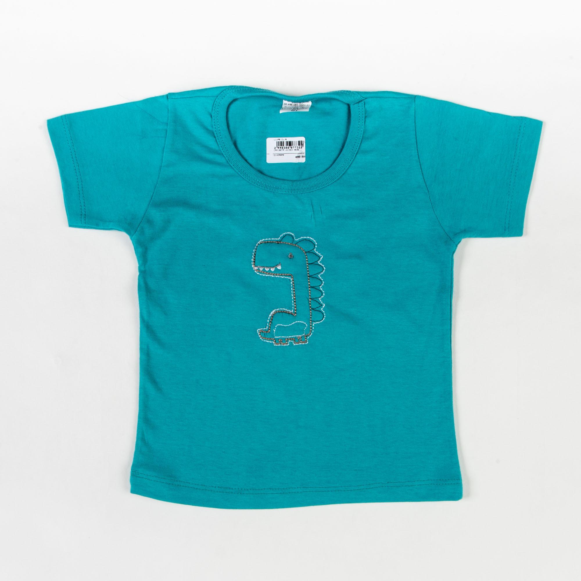 Camiseta Infantil Bordada