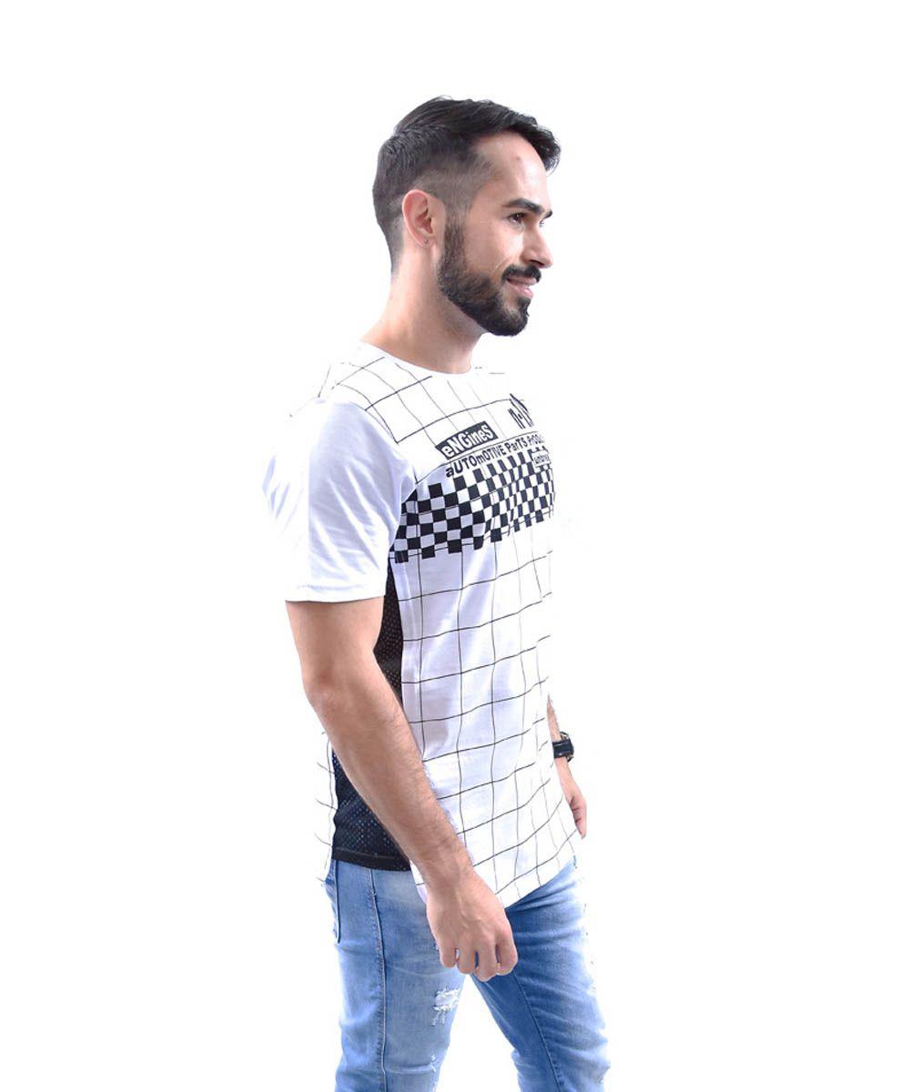 3c27541297 Camiseta Longfit Manga Curta Estampa Caveira Local Division Masculino -  Preto