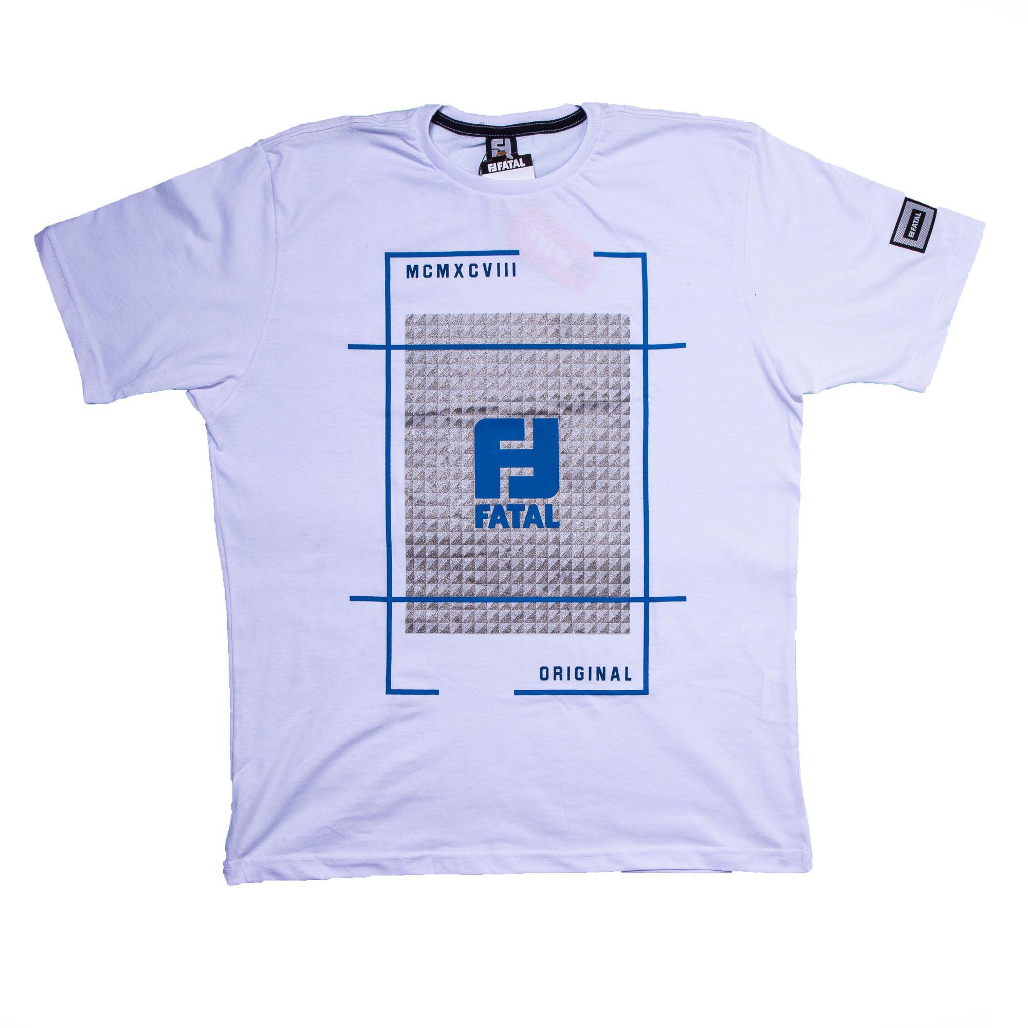 Camiseta Masculina Algodão Estampado - Fatal