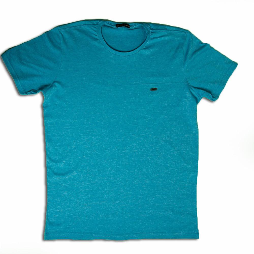 Camiseta Masculina Básica Azul - Local
