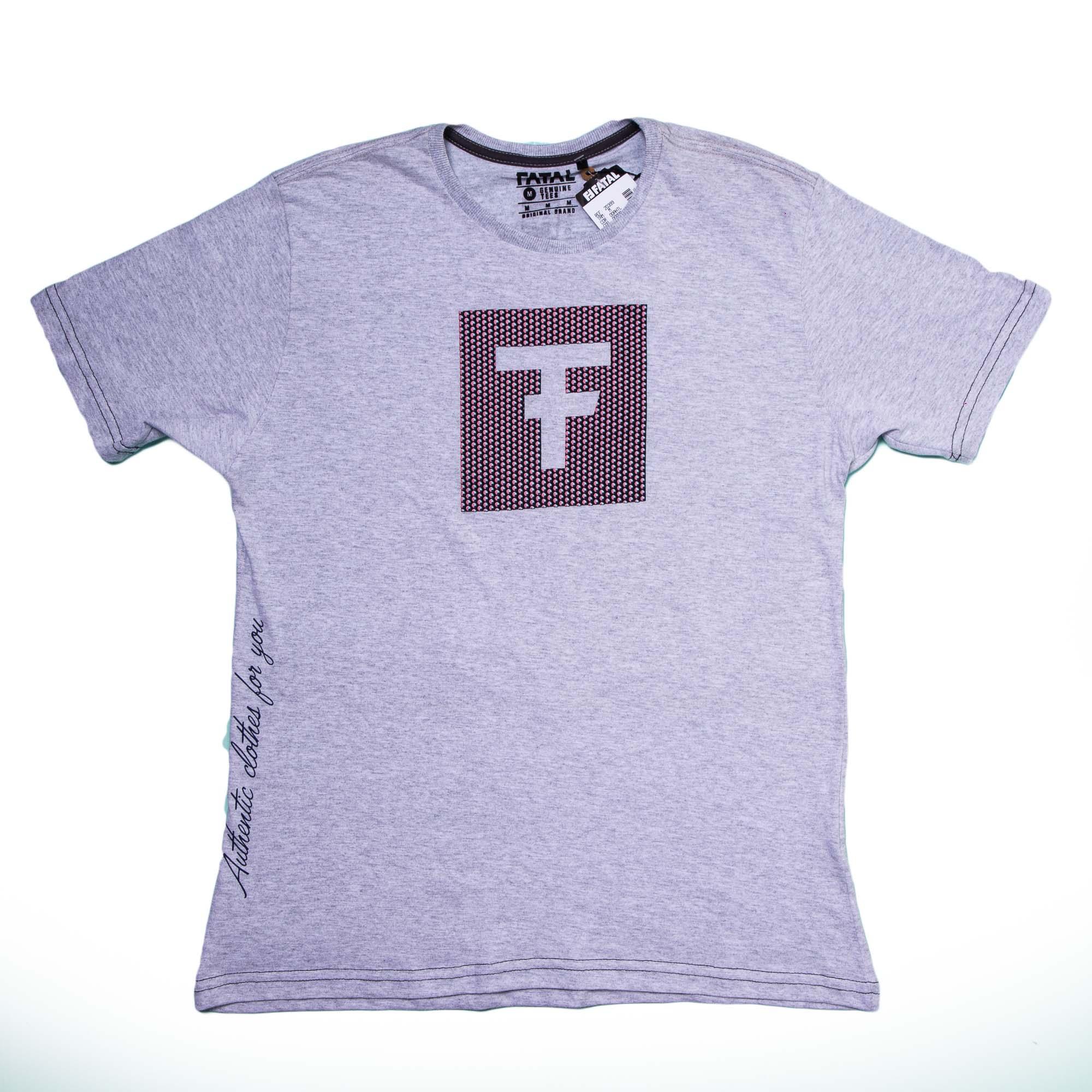 Camiseta Masculina Manga Curta Com Estampa - Fatal