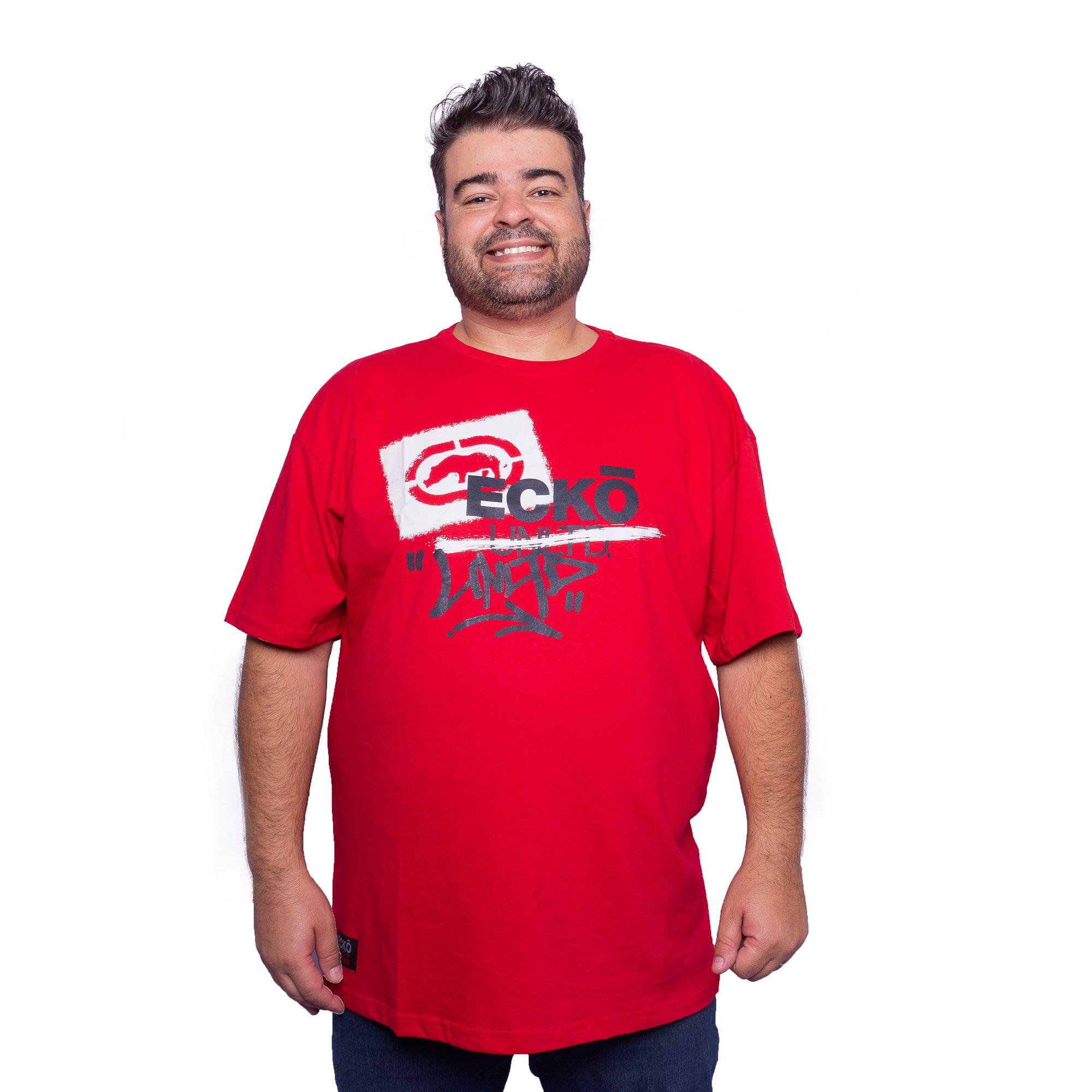 Camiseta Masculina Plus Size - Ecko Unltd