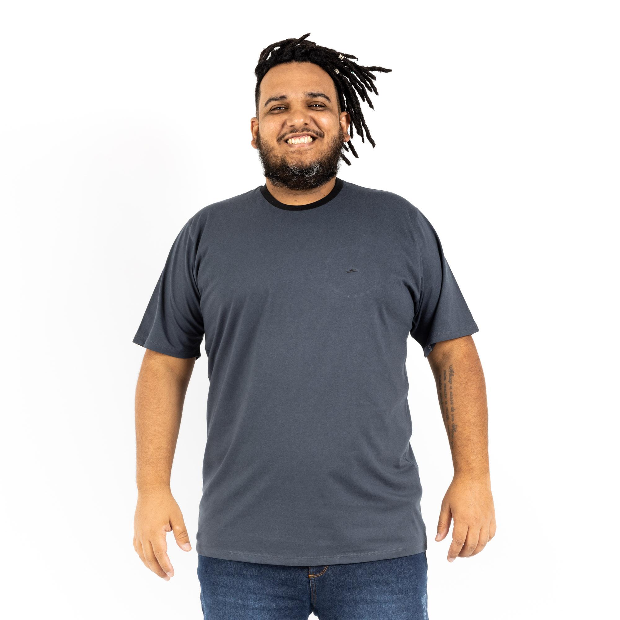 Camiseta Plus Size Gola Careca