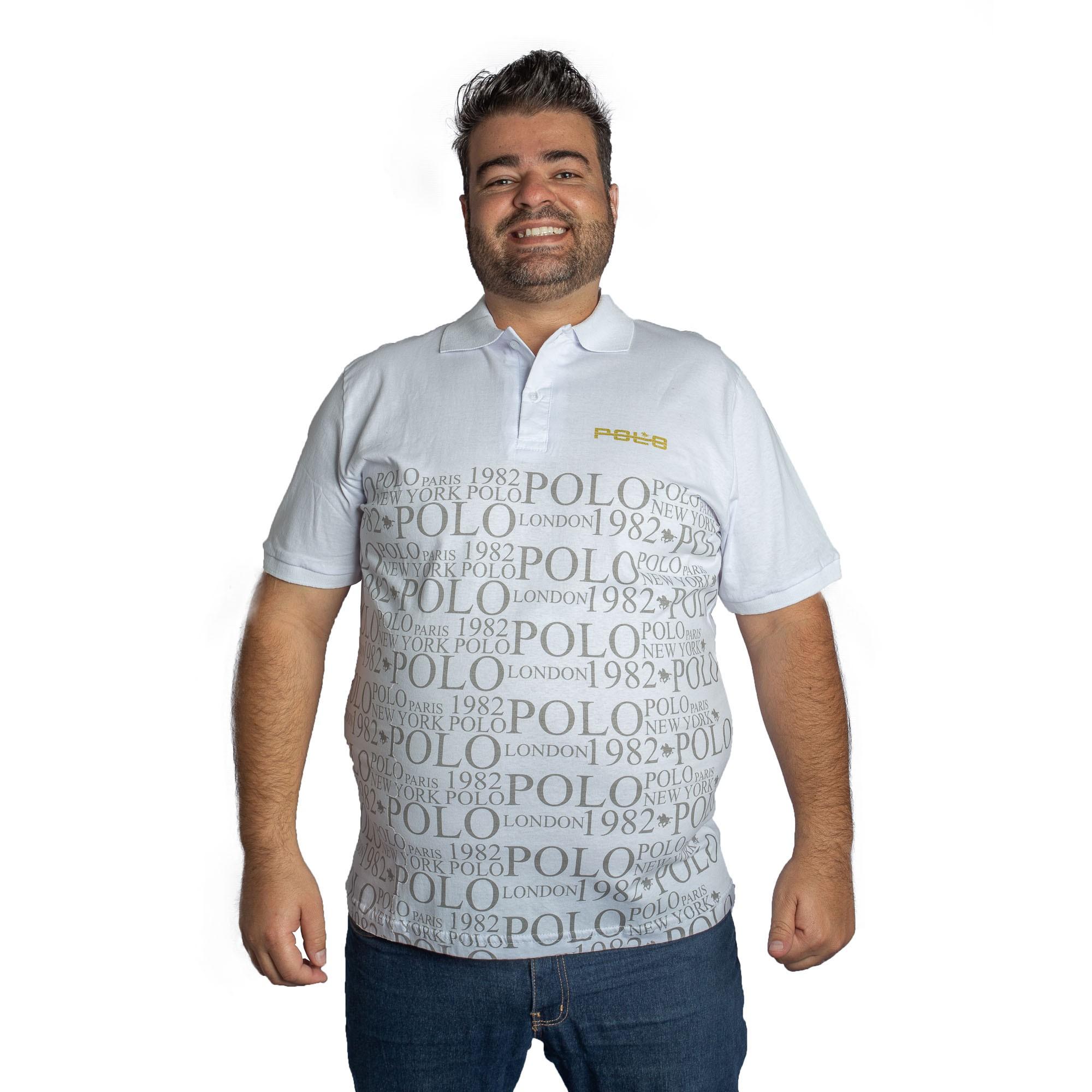 Camiseta Polo Masculina Malha Plus Size - Polo
