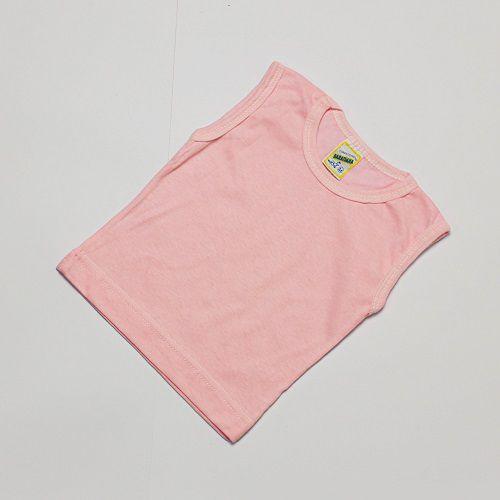 Camiseta Regata Bebê Liso Baratinha
