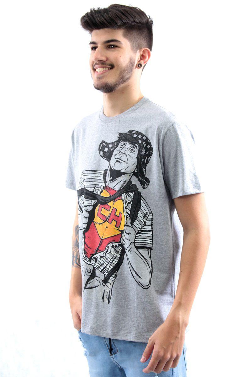 9e8d01db9b Camiseta Manga Curta Estampa Super Chaves Arquitetura da Moda Masculino