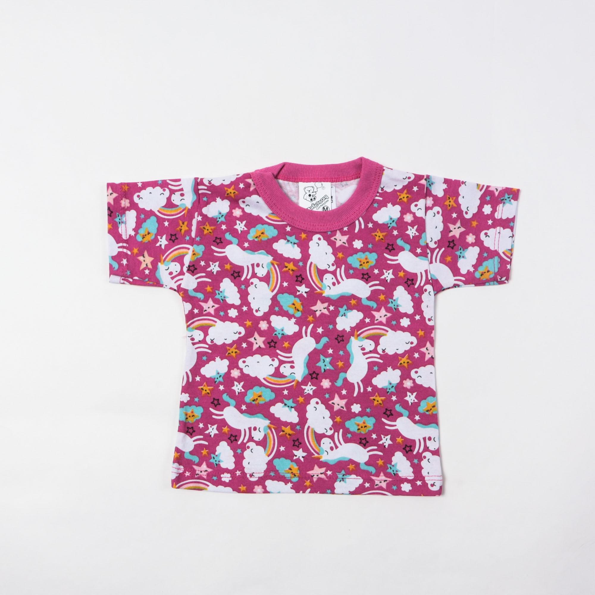 Camisetas E Blusinhas Estampada Infantil P/G - Mafessoni