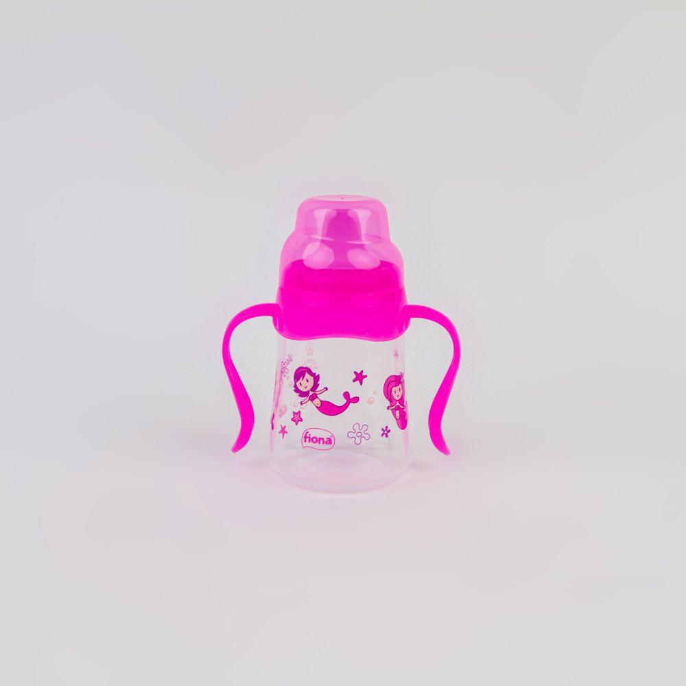 Caneca De Bebê Com Alça Estampada Rosa 180 ML Lillo