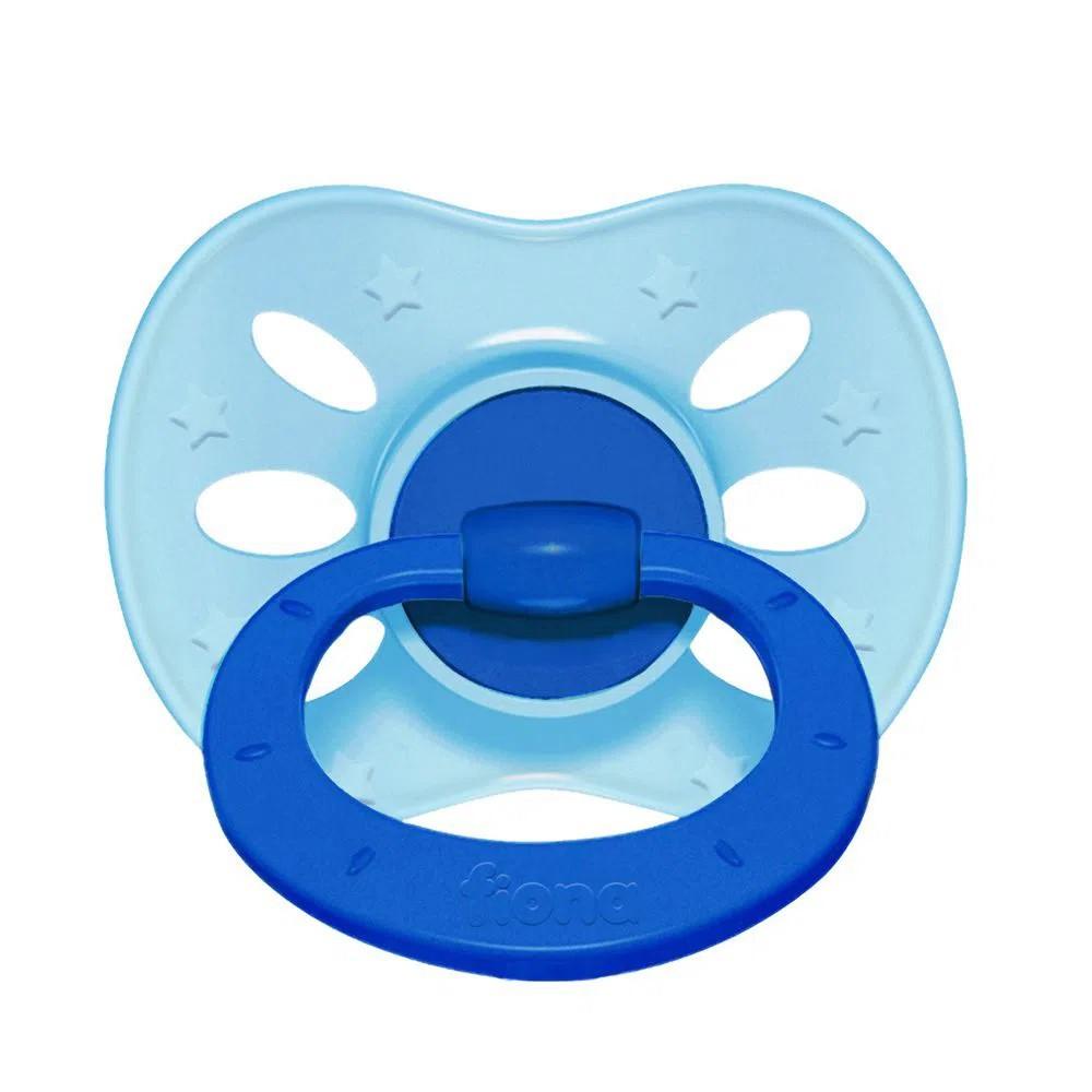 Chupeta De Bebê Estampado Azul Claro Lillo