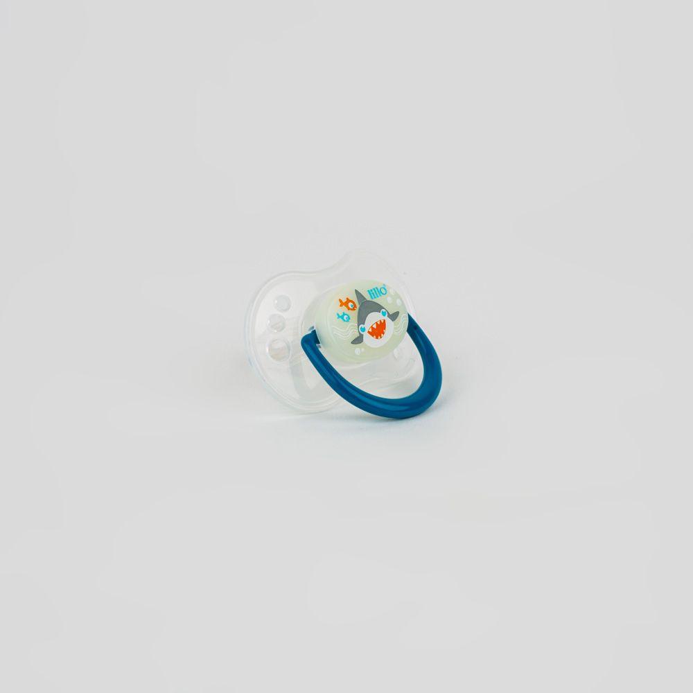 Chupeta De Bebê Estampado Azul Lillo
