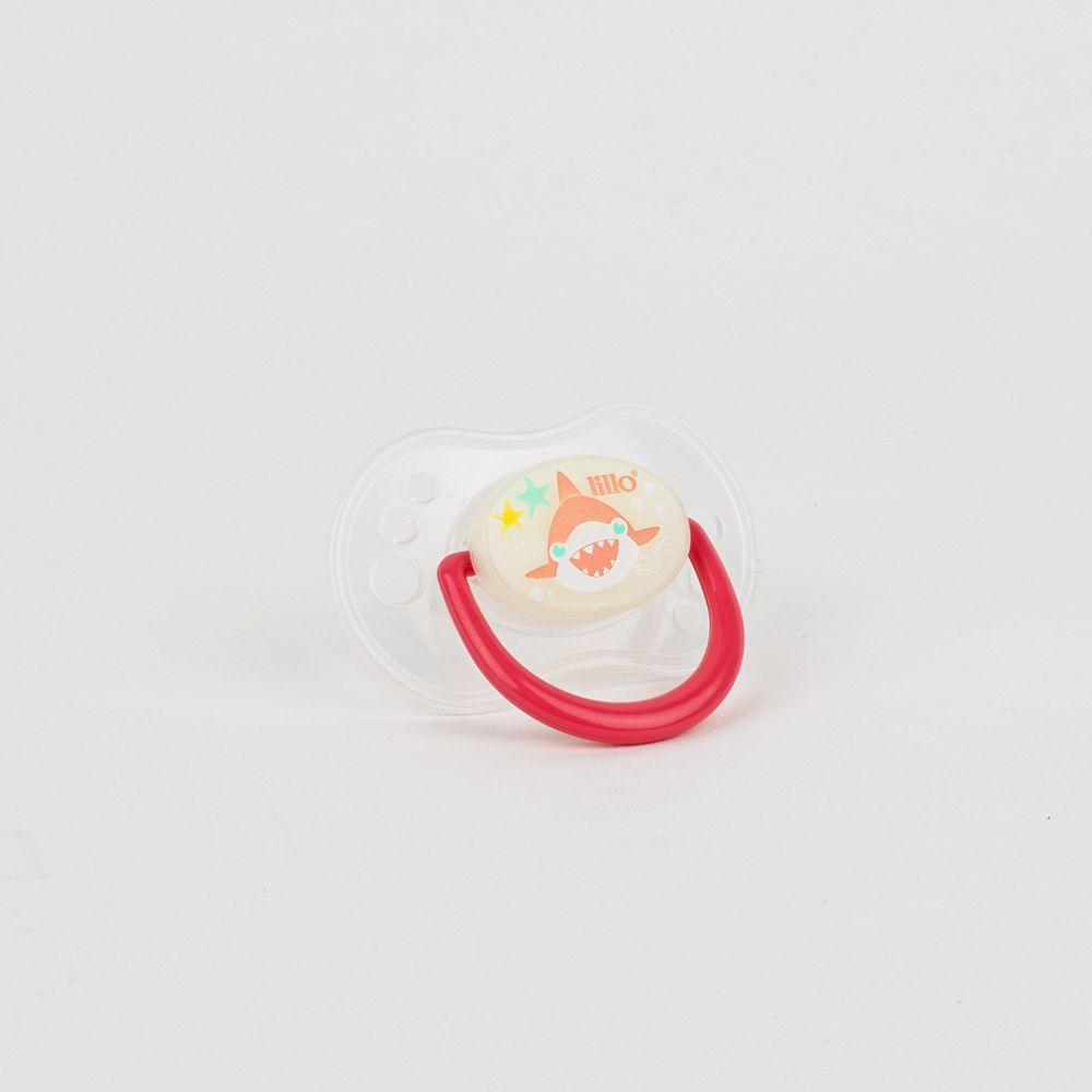 Chupeta De Bebê Estampado Vermelho Lillo