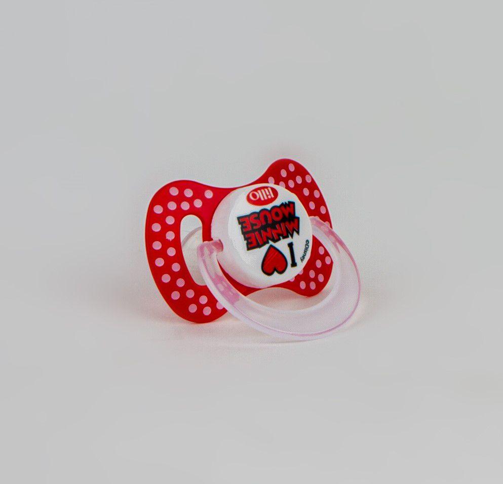 Chupeta De Bebê Minnie Mouse Vermelho Lillo