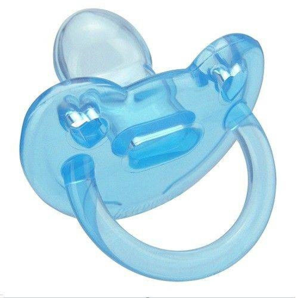 Chupeta De Bebê Soft Silicone Azul Kuka