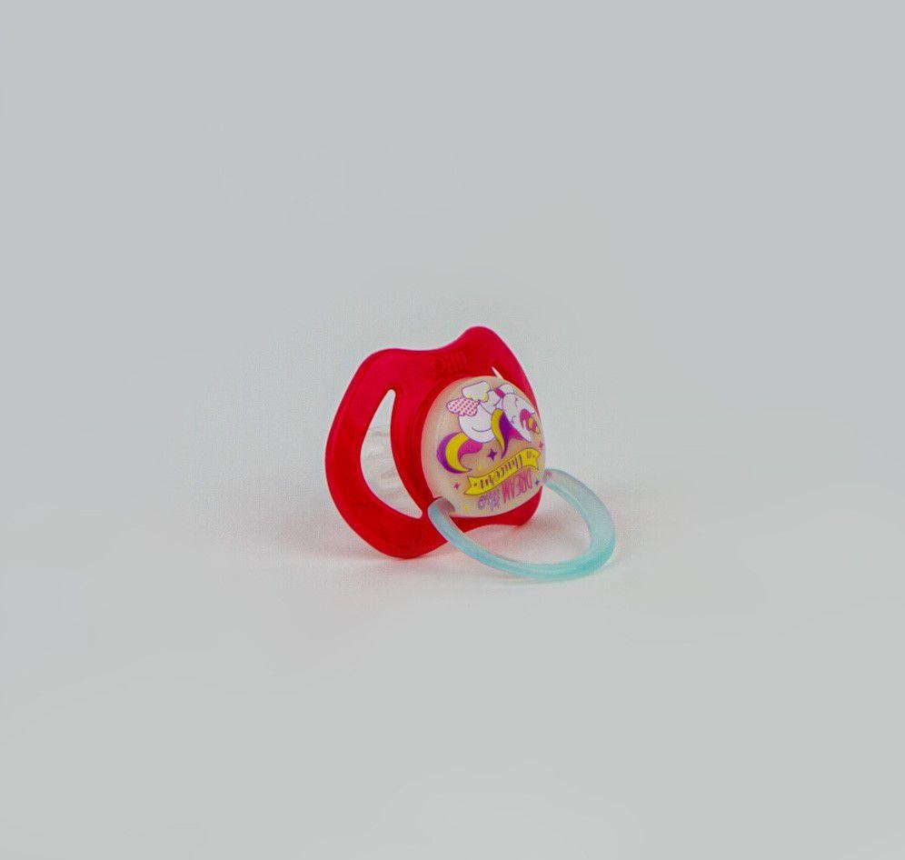 Chupeta De Bebê Unicórnio Rosa Lillo