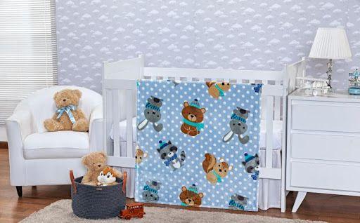 Cobertor Baby Flannel Menino- Etruria
