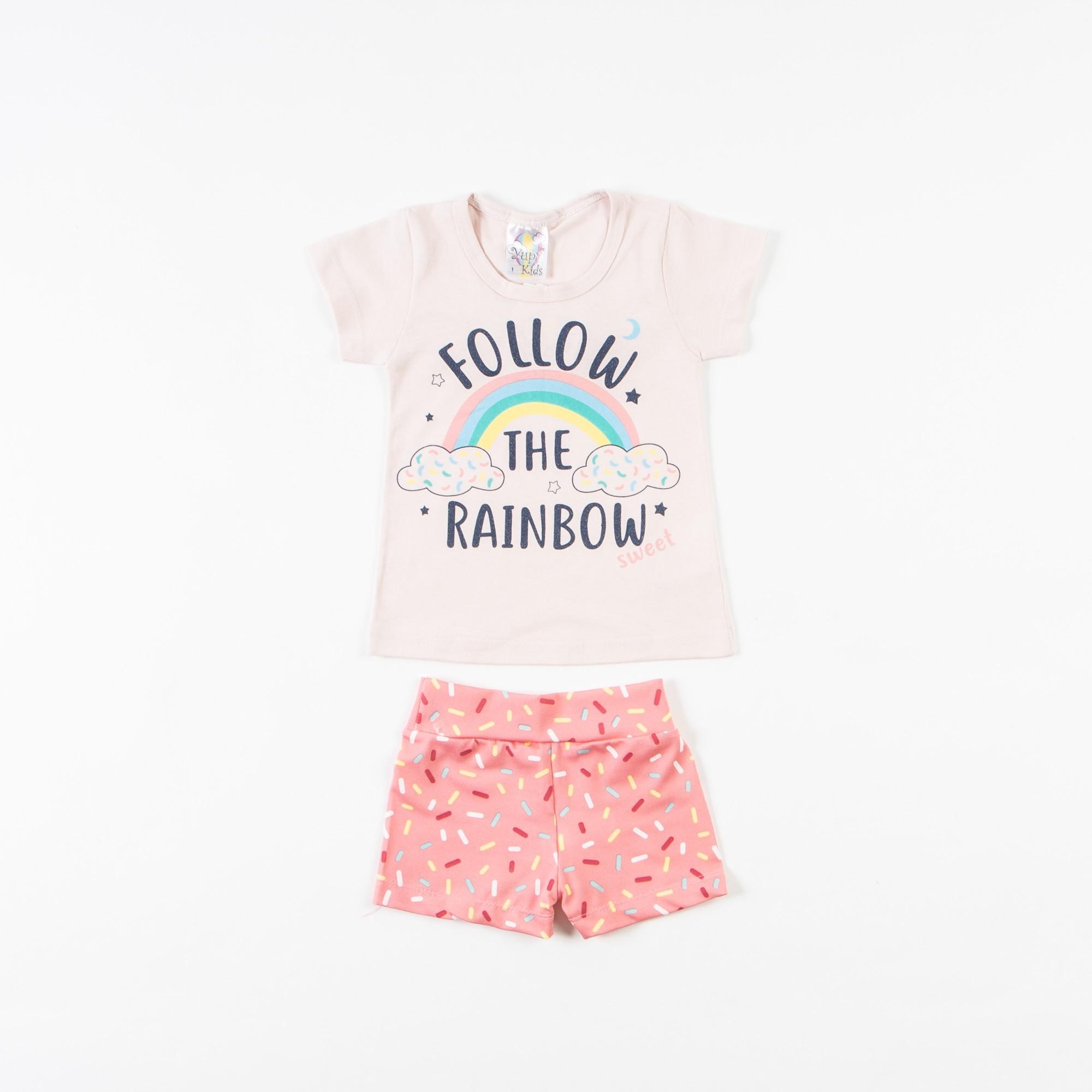 Conjunto Blusinha Infantil Com Short Crepe - 1/3