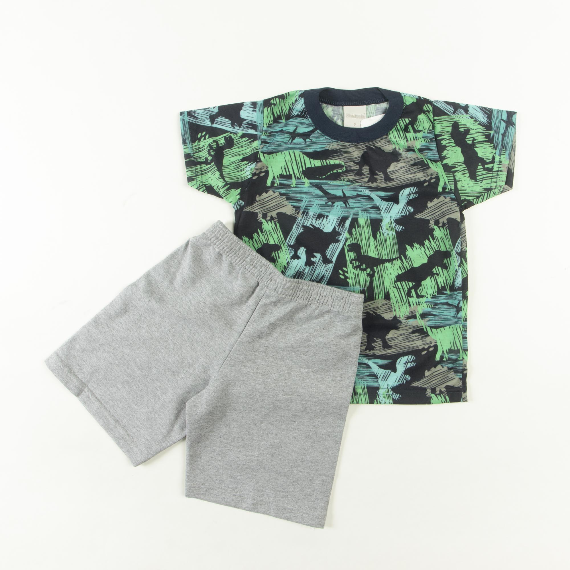 Conjunto Camiseta Com Bermuda Moletom Infantil