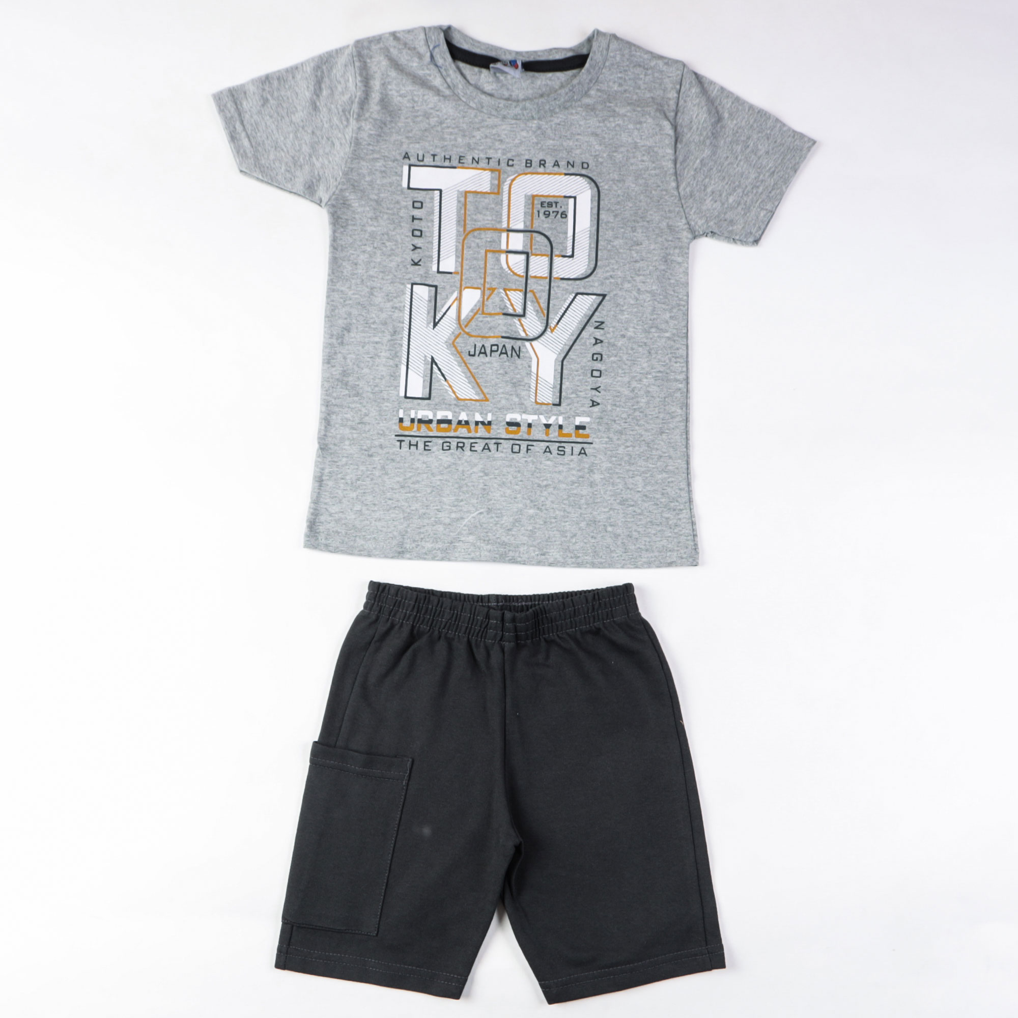 Conjunto Camiseta Infantil E Bermuda
