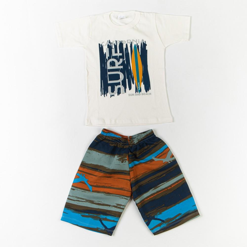 Conjunto Com Short Tactel Infantil e Camiseta