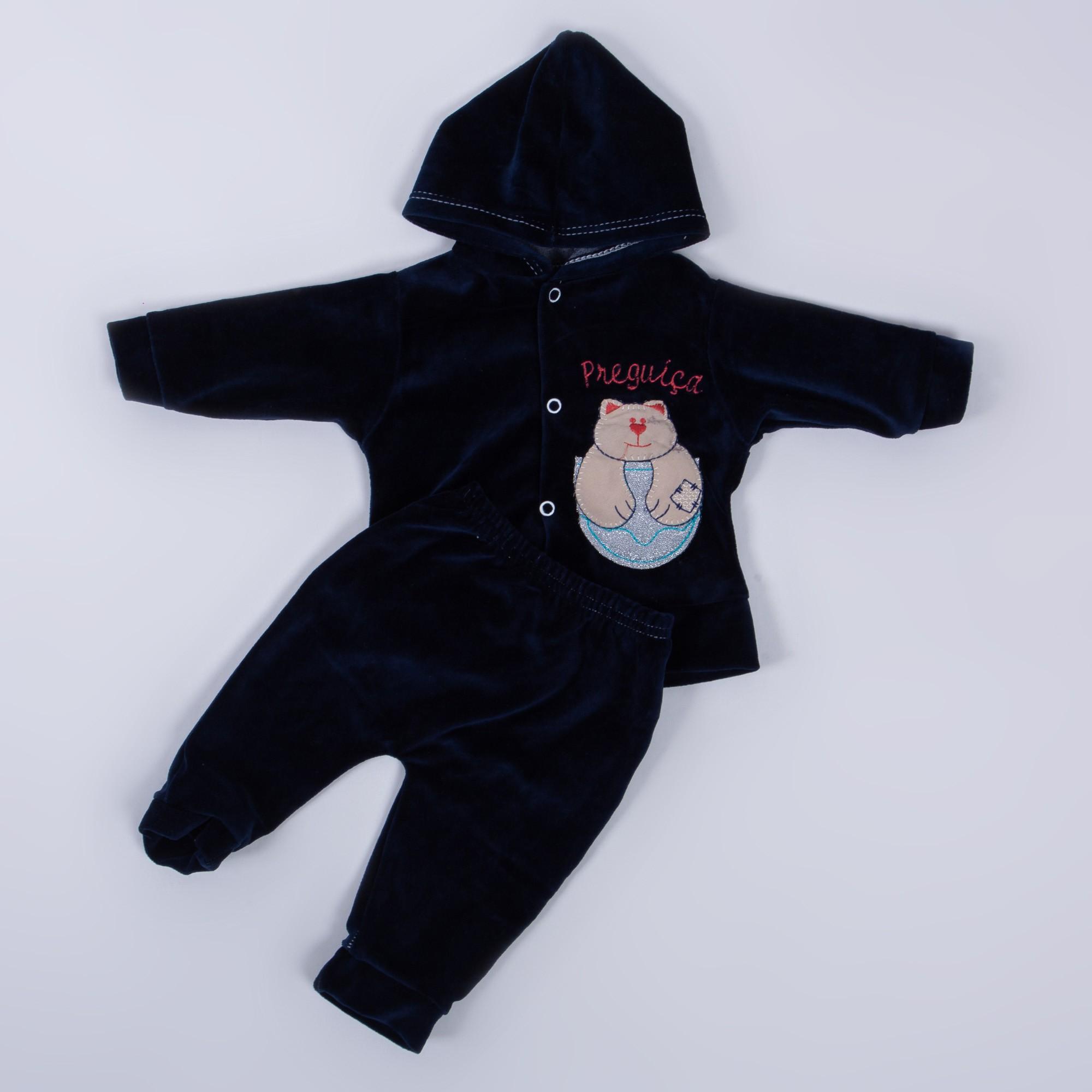 Conjunto De Bebê Estampa Bordado Plush Luizinho Baby