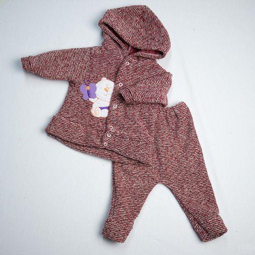 Conjunto De Bebê Bordado Veludo Luizinho Baby