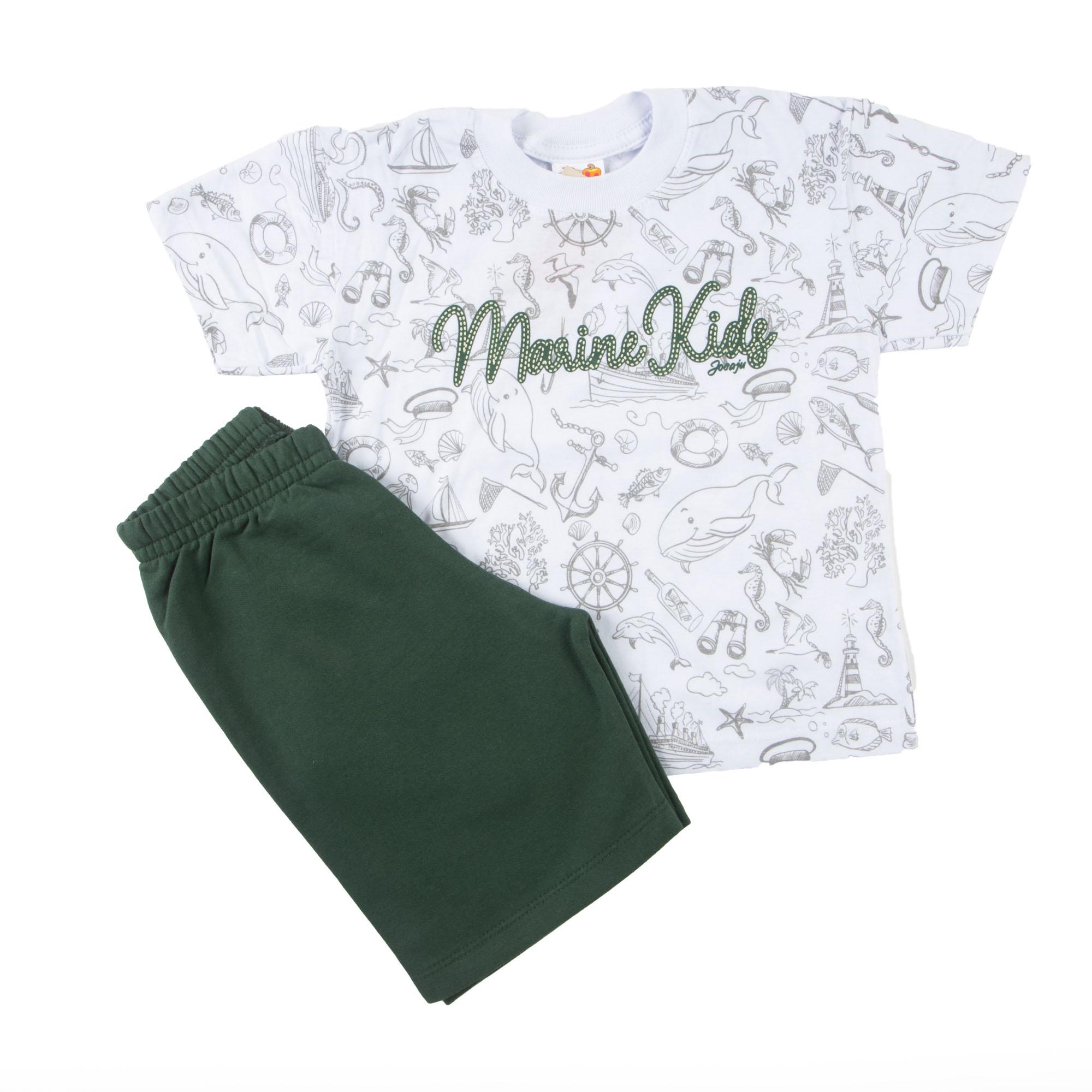 Conjunto De Verão Infantil Camiseta E Bermuda