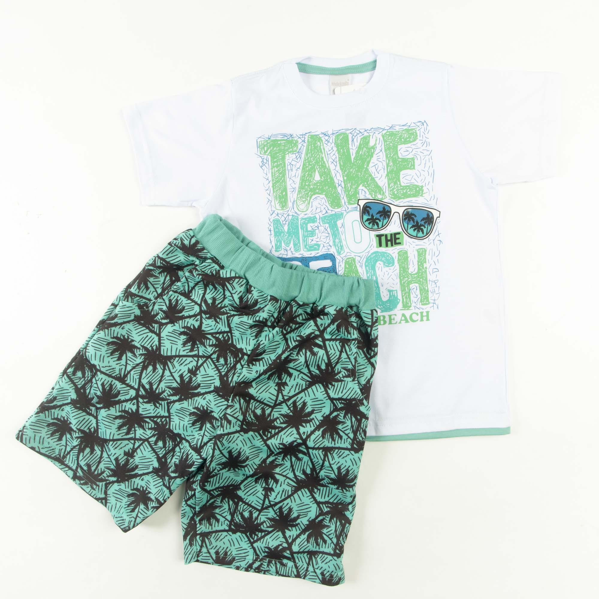 Conjunto Infantil Camiseta Com Bermuda 4/8