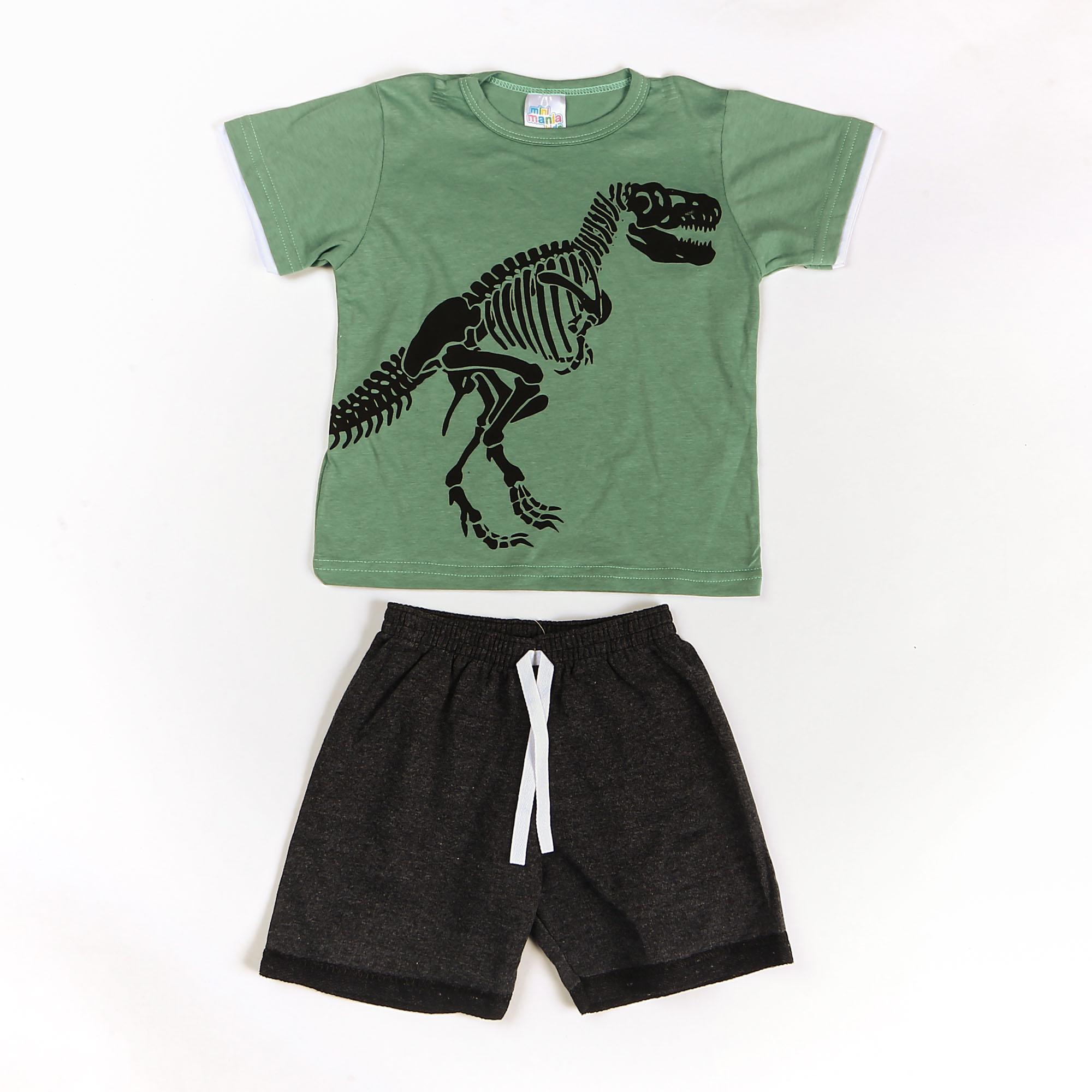 Conjunto Infantil Com Estampa De Dinossauro