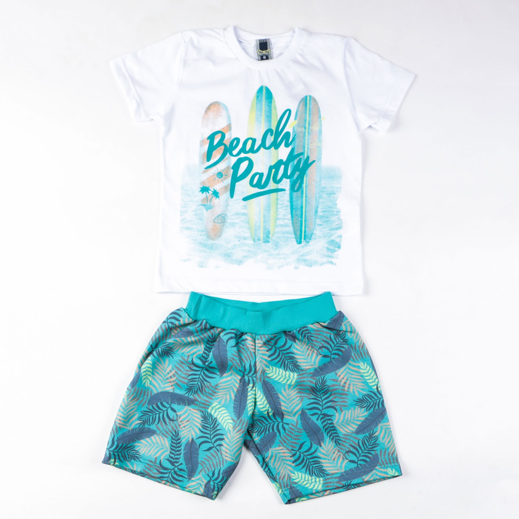 Conjunto Infantil De Camiseta Com Bermuda