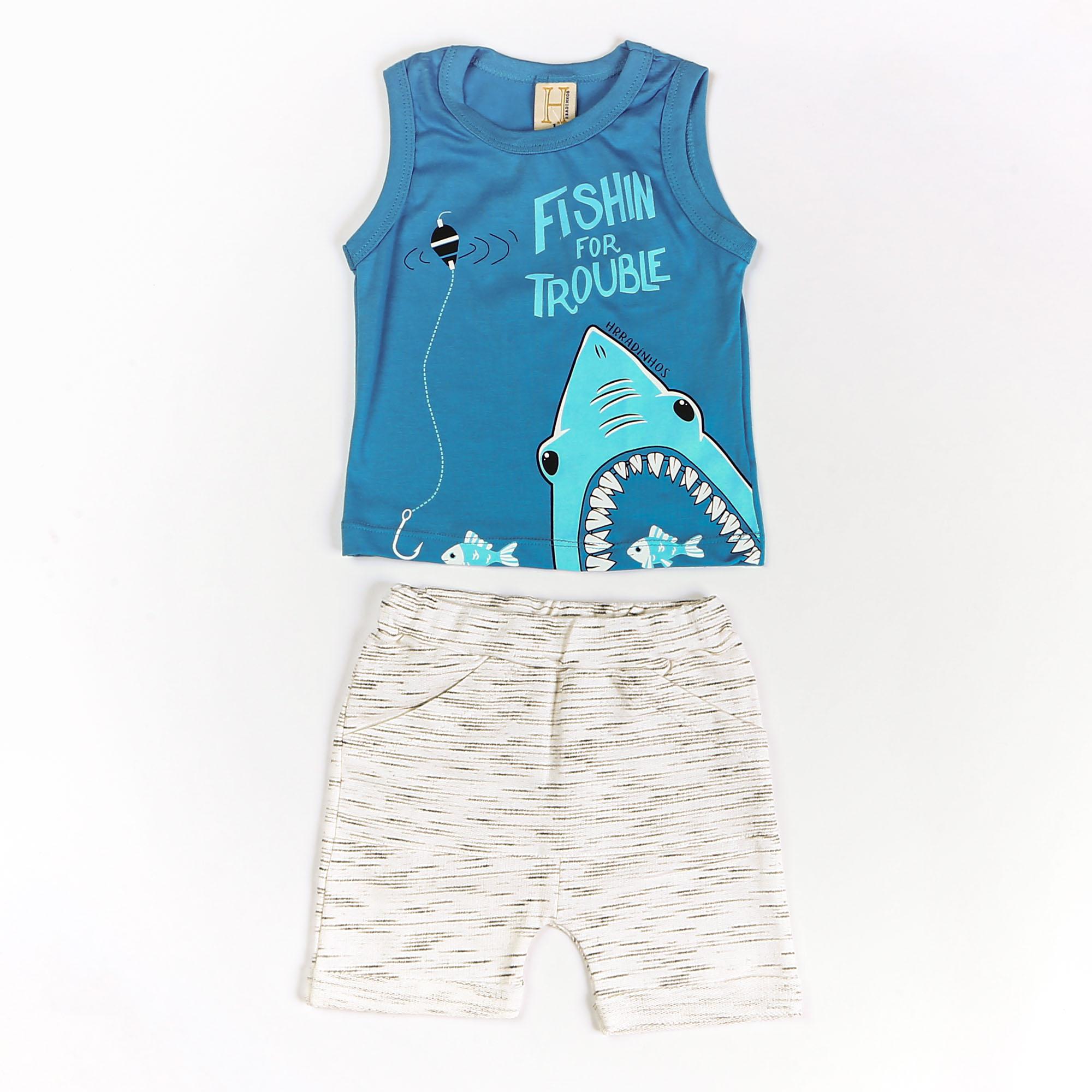 Conjunto Infantil Estampa Tubarão