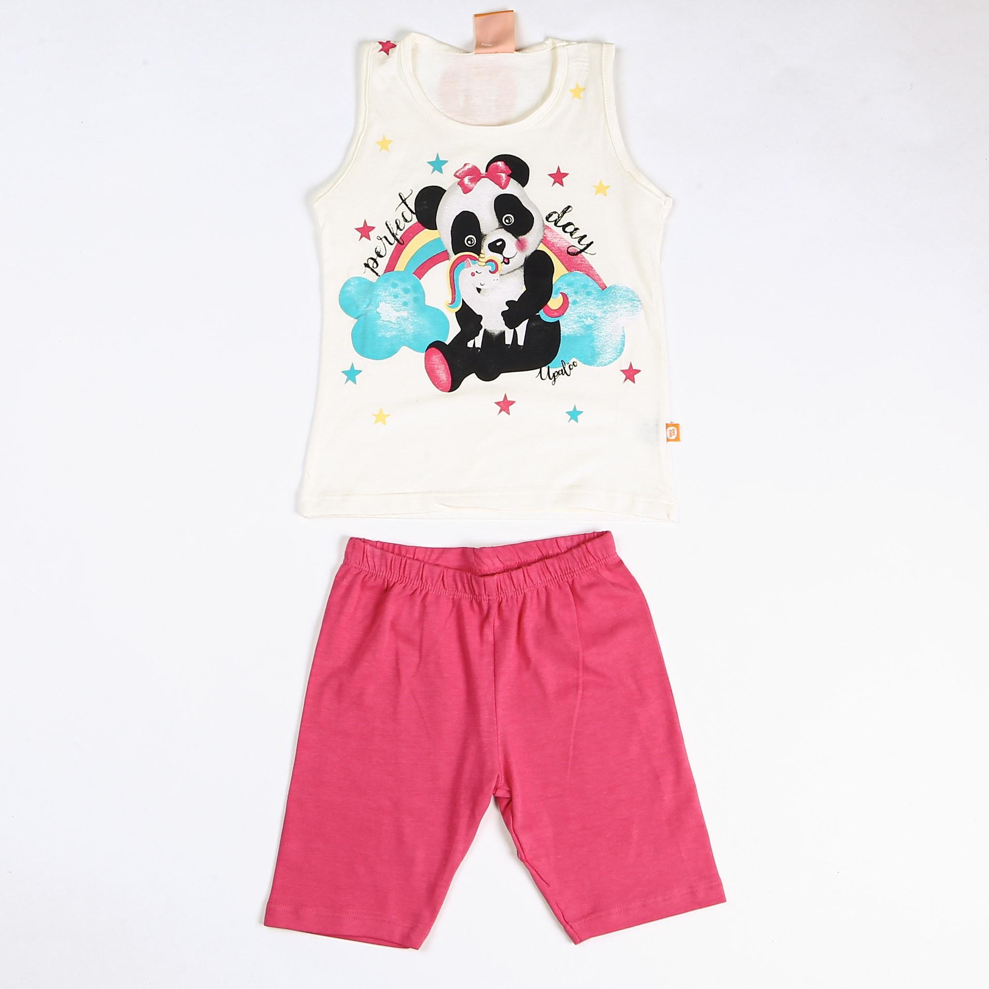 Conjunto Infantil Menina Cotton Panda