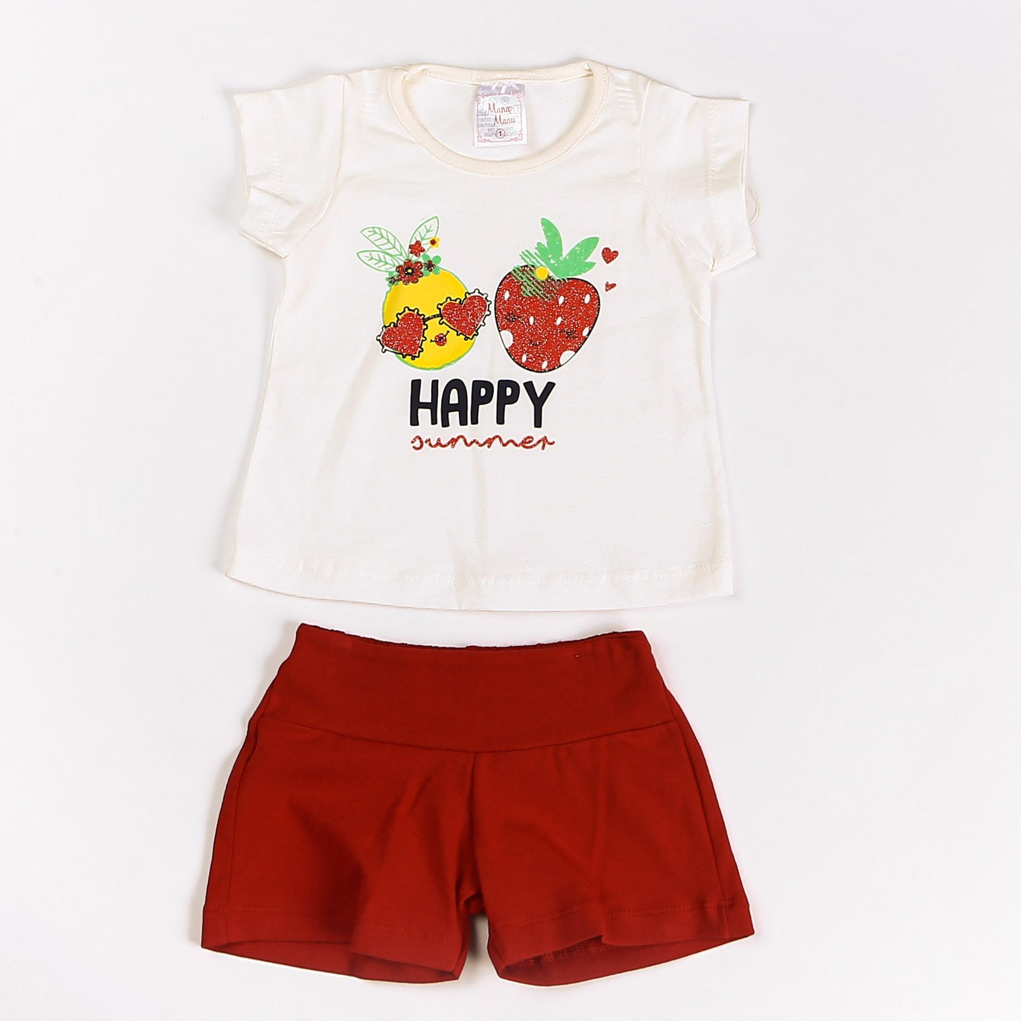 Conjunto Infantil Menina Happy Summer
