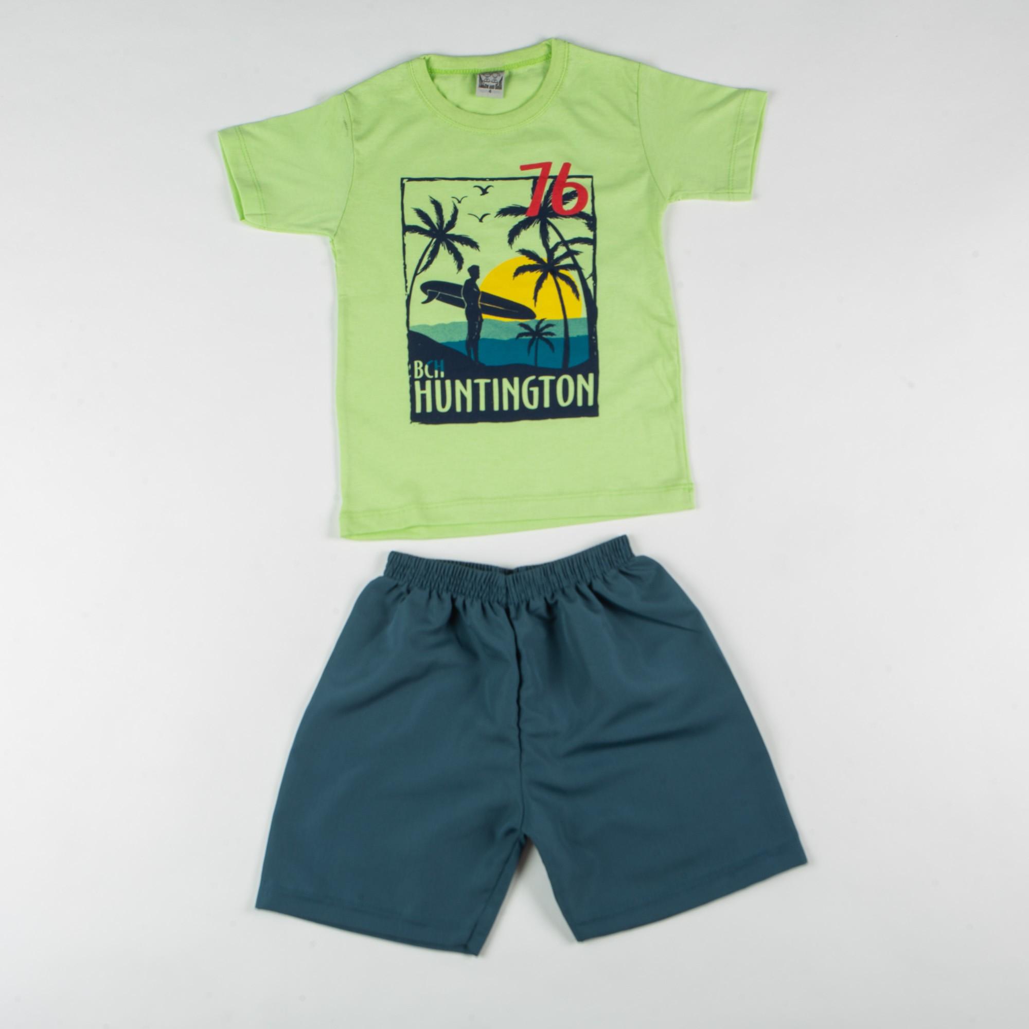 Conjunto Infantil Menino Com Blusinha Estampa Praia
