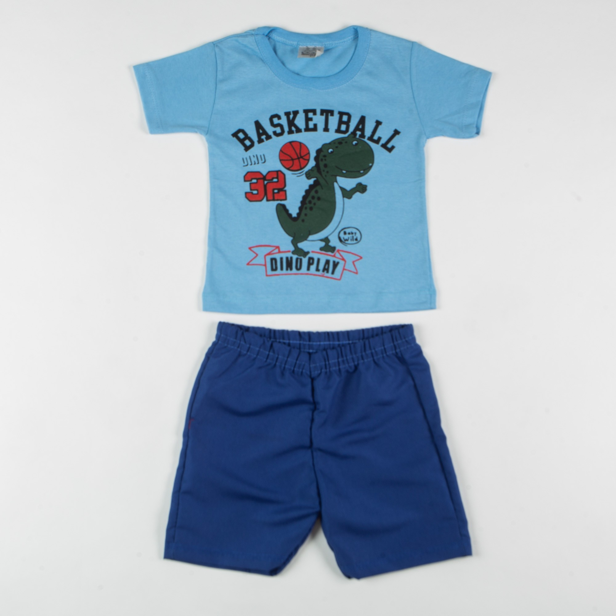 Conjunto Infantil Menino Desenho Basketball Dino Play